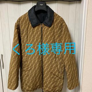 FENDI - FENDI フェンディ ズッカ柄 リバーシブル  L コート メンズ