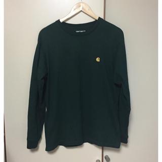 カーハート(carhartt)のcarhartt ロンt グリーン xs(Tシャツ/カットソー(七分/長袖))