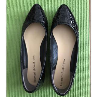 TSUMORI CHISATO - ツモリチサトウォーク 靴(黒)23.5センチ