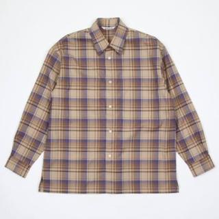 COMOLI - 18aw Auralee スーパーライトウールチェックシャツ