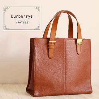 BURBERRY - 正規品 Burberrys ヴィンテージ オールレザー ハンドバッグ