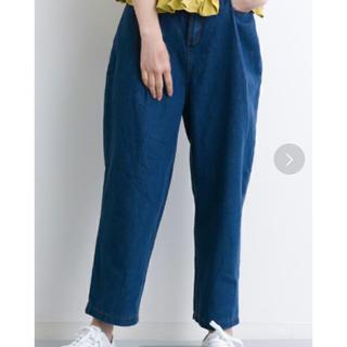 メルロー(merlot)の【新品】 merlot デニムワイドテーパードパンツ ブルー(デニム/ジーンズ)