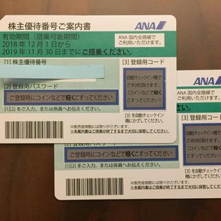 ANA(全日本空輸) - ANA株主優待券2枚組(有効期間2019年11月30日まで)