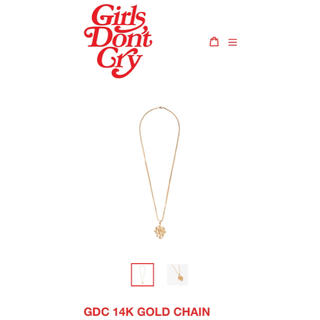 GDC - Girls don't  cry 14K GOLD CHAIN