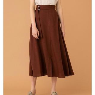 ユナイテッドアローズ(UNITED ARROWS)の新品未着用 フレアスカート ブラウン(ひざ丈スカート)
