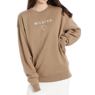MILKFED. - 【送料込】MILKFED. * LINE HEART BIG SWEAT
