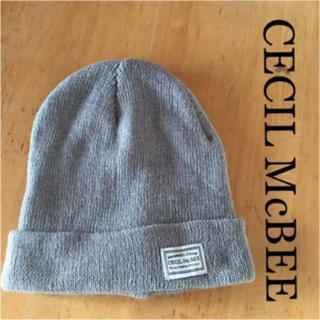 セシルマクビー(CECIL McBEE)の☆CECIL McBEE☆ニット帽☆グレー☆(ニット帽/ビーニー)