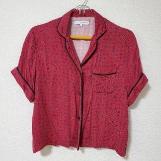 ウィゴー(WEGO)のWEGO # 開襟 シャツ ペイズリー 赤(シャツ/ブラウス(半袖/袖なし))