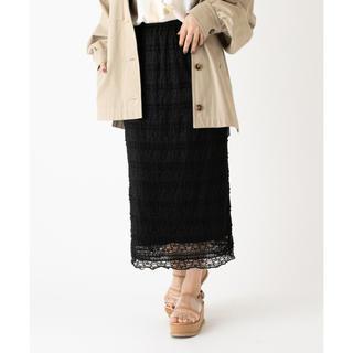 ミスティック(mystic)のmystic レースタイトスカート ブラック(ロングスカート)