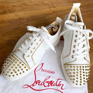 Christian Louboutin - 【正規品】クリスチャン ルブタン ルイスジュニア ホワイト×ゴールド/41