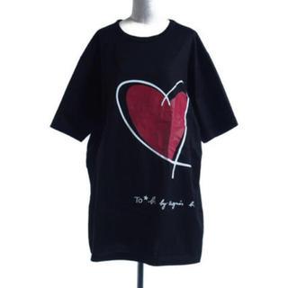 agnes b. - agnes.b ビッグシルエット ハート Tシャツ