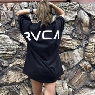 RVCA - ルーカ ビックロゴTシャツ♡ブラック Lサイズ アーチロゴ