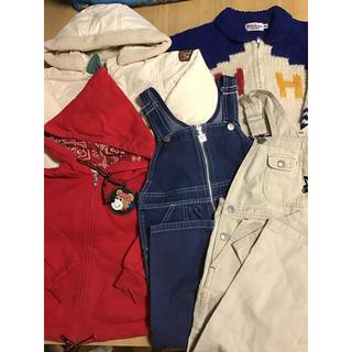 ミキハウス(mikihouse)のミキハウス☆100センチ☆オーバーオールパーカーセーターなどセット(ジャケット/上着)