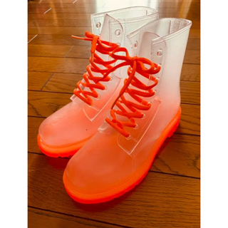 レインブーツ オレンジ 26センチ(レインブーツ/長靴)