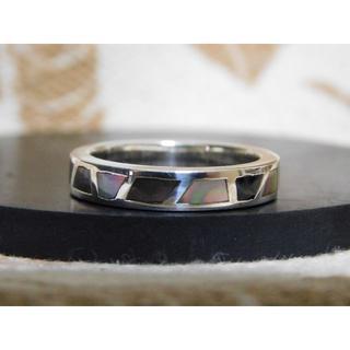 新品未使用 SAINTS ブラックシェルリング 19号 指輪 アクセサリー(リング(指輪))