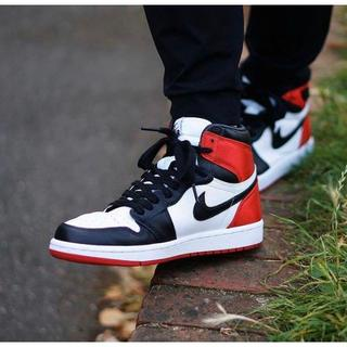ナイキ(NIKE)のNIKE AIR JORDAN1 OG blacktoe SATIN 26cm(スニーカー)