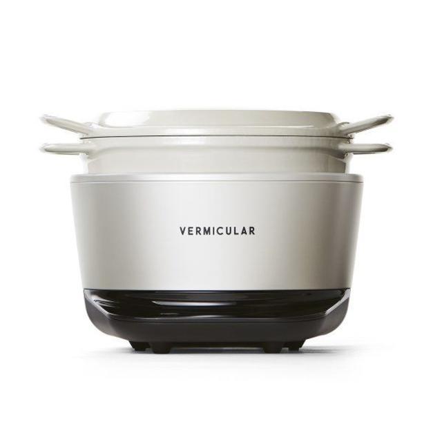 Vermicular(バーミキュラ)のバーミキュラ ライスポット シーソルトホワイト スマホ/家電/カメラの調理家電(炊飯器)の商品写真