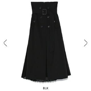 フレイアイディー(FRAY I.D)の新品タグつきフレイアイディー トレンチ プリーツスカート(ロングスカート)