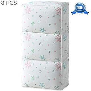 ふとんケース 布団収納袋 収納ケース 不織布製折り畳み 3点セット 模様(その他)