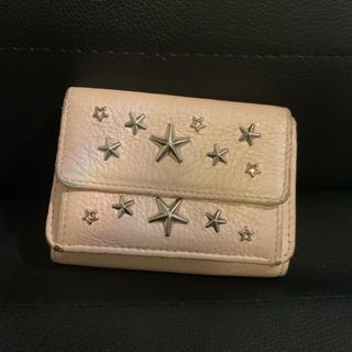 ジミーチュウ(JIMMY CHOO)のジミーチュウ スタッズ ミニ財布 パールピンク(財布)