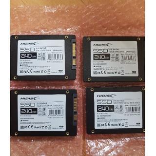 新品未使用 HIDISC SSD 240GB 4枚セット(PCパーツ)
