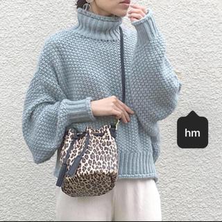 H&M - H&M チャンキーニット セーター かぎ編み リブニット