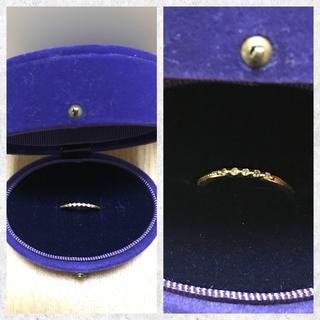 アガット(agete)の♡agete♡アガット♡K18イエローゴールドダイヤモンドリング♡7号♡(リング(指輪))