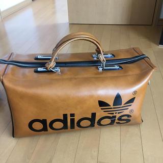 adidas - アディダス 茶色 ボストムバッグ ヴィンテージ?