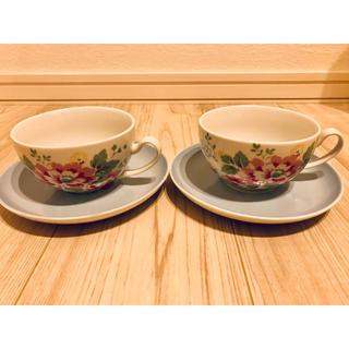 キャスキッドソン(Cath Kidston)のキャスキッドソン ティーカップ &ソーサー セット  美品(グラス/カップ)