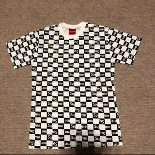 Supreme - ノーブランドTシャツ 白×黒