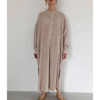 TODAYFUL - 新品未開封♡Stripe shirt dress écru 36♡