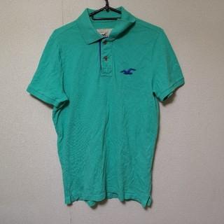 ホリスター(Hollister)のホリスター  ポロシャツ  M  エメランド グリーン(ポロシャツ)