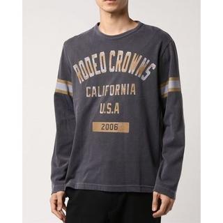 ロデオクラウンズワイドボウル(RODEO CROWNS WIDE BOWL)の新品 RCWB ロデオ RCカレッジロゴ ロングスリーブTシャツ(Tシャツ/カットソー(七分/長袖))
