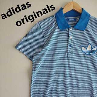 アディダス(adidas)の616 アディダスオリジナルス ポロシャツ ボーダー デカロゴ 可愛い(Tシャツ/カットソー(半袖/袖なし))