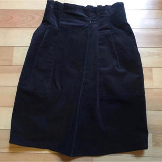 ミスティック(mystic)のミスティック コーデュロイスカート 紺 S(ひざ丈スカート)