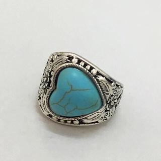 925スターリングシルバー    ハートのターコイズリング  (リング(指輪))