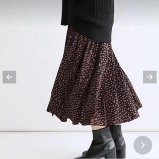 IENA - 【極美品】IENA ドットプリーツスカート