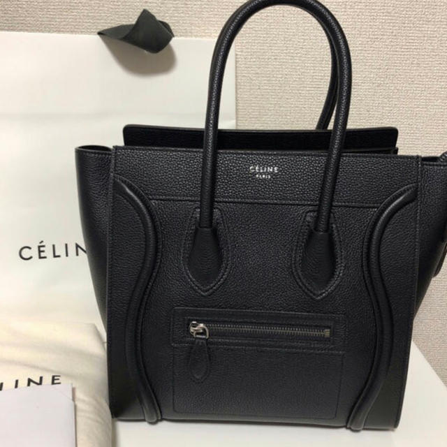 celine(セリーヌ)のCELINE ラゲージミニ ブラック 美品 レディースのバッグ(ハンドバッグ)の商品写真