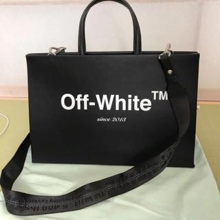 オフホワイト(OFF-WHITE)のoff-white レザートートバッグ(トートバッグ)