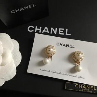CHANEL - CHANEL ノベルティ フラワーパール ピアス 15mm