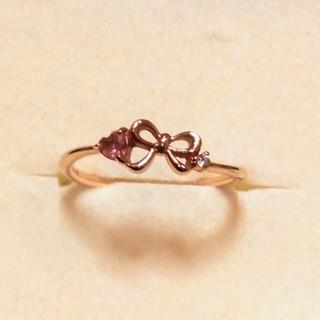 サマンサティアラ(Samantha Tiara)の サマンサティアラ K18 ダイヤモンド 色石 リング(リング(指輪))