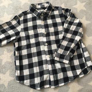 UNIQLO - ギンガムチェックシャツ 110cm