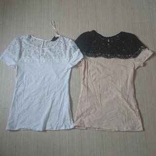 エイチアンドエム(H&M)のH&M レース Tシャツ(Tシャツ(半袖/袖なし))