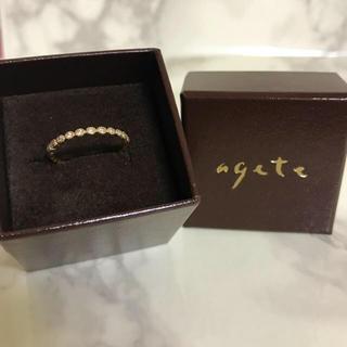 agete - アガット★リング フリル 廃番 K10 YG PG ダイヤモンド agete