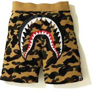 A BATHING APE - シャーク スウェット ハース パンツ ショーツ bape shark