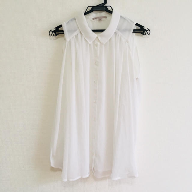 GAP(ギャップ)のノースリーブトップス レディースのトップス(シャツ/ブラウス(半袖/袖なし))の商品写真