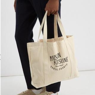 メゾンキツネ(MAISON KITSUNE')のMAISON KITSUNE メゾンキツネ トートバッグ 新品 ブラック(トートバッグ)