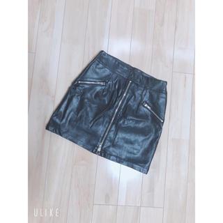 アンビー(ENVYM)のENVYM レザースカート(ミニスカート)