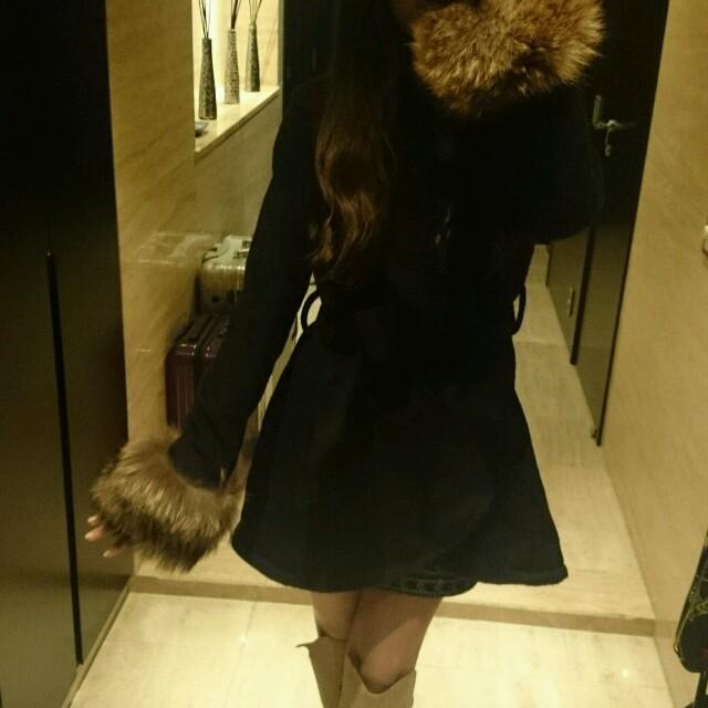 ROYAL PARTY(ロイヤルパーティー)のロイヤルパーティー アウター コート 黒 レディースのジャケット/アウター(毛皮/ファーコート)の商品写真
