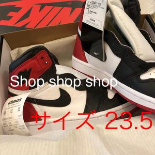 ナイキ(NIKE)のNike jordan 1 black toe satin 23.5(スニーカー)